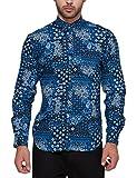 Locomotive Men's Casual Shirt (LMSH009920_XX-Large_Navy Blue)