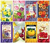 16 Card Toppers, Vintage Seed Packet Inspired