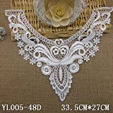 1pc Beautiful Embroidered Polyester Applique Lace Trim Lace Collar patches Flower Lace (#2)
