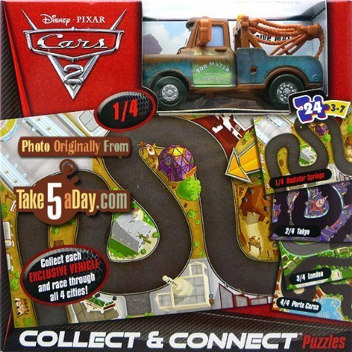 Mattel Disney Pixar CARS 2 - Mater Collect and Connect 24pc. Puzzle - 1