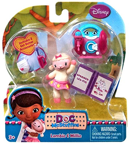 Disney Doc McStuffins Action Figure 2-Pack Lambie & Millie