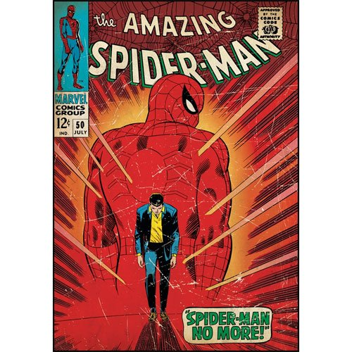 Amazing Spiderman Walking Away Comic Book Cover Wall Accent