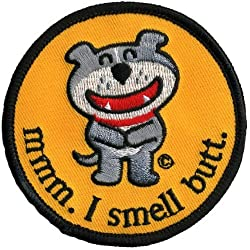 Old Glory Unisex-Adult Dog Of Glee - Mmm I Smell Butt Patch Nylon Accessory by Old Glory