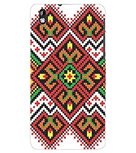 ColourCraft Tribal Pattern Back Case Cover for HTC DESIRE 816