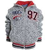 Winter Kinderhoodie Pullover Kapuzenpullover Sweatshirt Kapuzen Sweatjacke 20194, Farbe:Grau;Größe:128