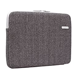 SunSmart Ultra Slim Universal 15.4 inch Notebook case sleeve bag made with Zipper Opening for convenient charging for 15.4-inch Notebook/Macbook Pro 15.4'' / Macbook Air 15.4'' (brown)