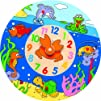 Puzzled Wooden Clock  Ocean Life Wooden Toys