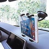 MyArmor タブレットホルダー 車載 ホルダー 真空 吸盤式 360度回転可能 タブレットスタンド マウント カーホルダー(7.9-10.5インチ用)iPad 2/Air/Mini, Samsung Galaxy Tab S, Tab 4,Lenovo Yoga HD+ , Google Nexus 10, Microsoft Surface Pro 3, GPS等対応