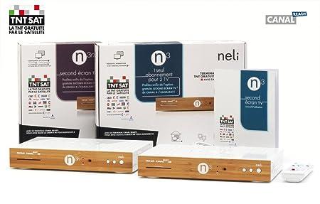 Neli - Pack Multi-TV N3 + N3n - Décodeurs satellite HD/3D TNTSAT CANALREADY, CPL intégré