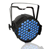 DJ Par Light,180W RGB Wash Light, LED Stage Light for Wedding Birthday Christmas Party Show Sound Activated,Master-slave, Auto Running (Color: LPC007)