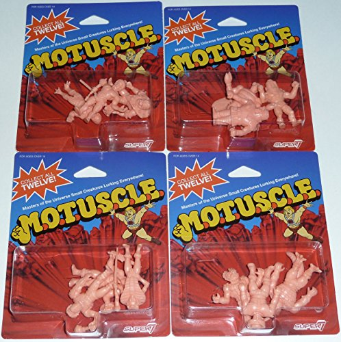 SDCC 2015 MUSCLE MOTUSCLE Set of 12 Figures M.O.T.U.S.C.L.E. He-Man Masters of the Universe (M M Figures compare prices)