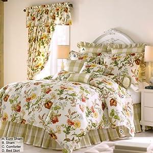 Rose Tree English Garden Comforter Set King