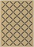Couristan 3077/0016 Five Seasons Sorrento 2-Feet by 3-Feet 7-Inch Rug, Cream and Black