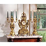 Design Toscano KY97156 Inc Chateau Beaumont Grand Clock and Candelabra Ensemble
