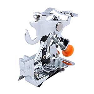 Yosoo Ruffler Sewing Machine Presser Foot for All Low Shank Singer Brother, Babylock,New Home, Janome, Kenmore, Bernina, Bernette Pfaff Husqvarna Juki Feet for Gathering, Pleats and Ruffles (Color: Sliver)