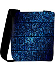 Snoogg Abstract Blue Patterned Designer Womens Carry Around Cross Body Tote Handbag Sling Bags
