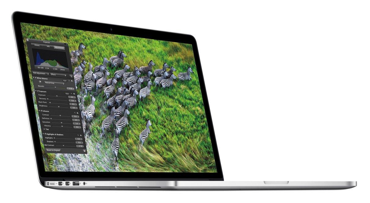 Apple MacBook Pro Retina Display MC975D/A 39,1 cm (15,4 Zoll) Notebook (Intel Core i7 3615QM, 2,3GHz, 8GB RAM, 256GB Flashspeicher, NVIDIA GT 650M, Mac OS)