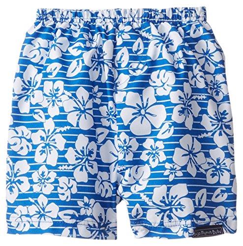 Jojo Maman Bebe Baby Boys' Swim Shorts with Diaper, Blue Hawaiian, 0 3 Months