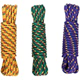 VIP Braided Polypropylene General Purpose Rope - Great For Boating & General Use Around The House - Bright Floating Rope Line Easy Easier To See - Thick & Durable Braided Rope - 1 Count