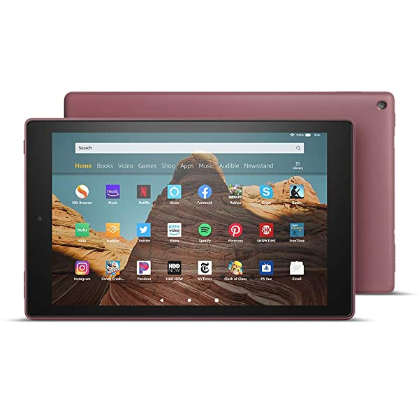 All-New Fire HD 10 Tablet (10.1 1080p full HD display, 64 GB) - Plum (Color: Plum)