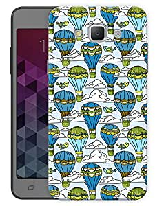 "Humor Gang Balloons In Clouds Sky Printed Designer Mobile Back Cover For ""Samsung Galaxy E7"" (3D, Matte, Premium Quality Snap On Case)"