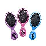 Wet Brush Multi-Pack Squirt Detangler Hair Brush with Soft IntelliFlex Bristles, Mini Travel Detangler - Pack of 3 (Pink, Purple, Blue) (Color: Pink/Purple/Blue, Tamaño: 3 Count)