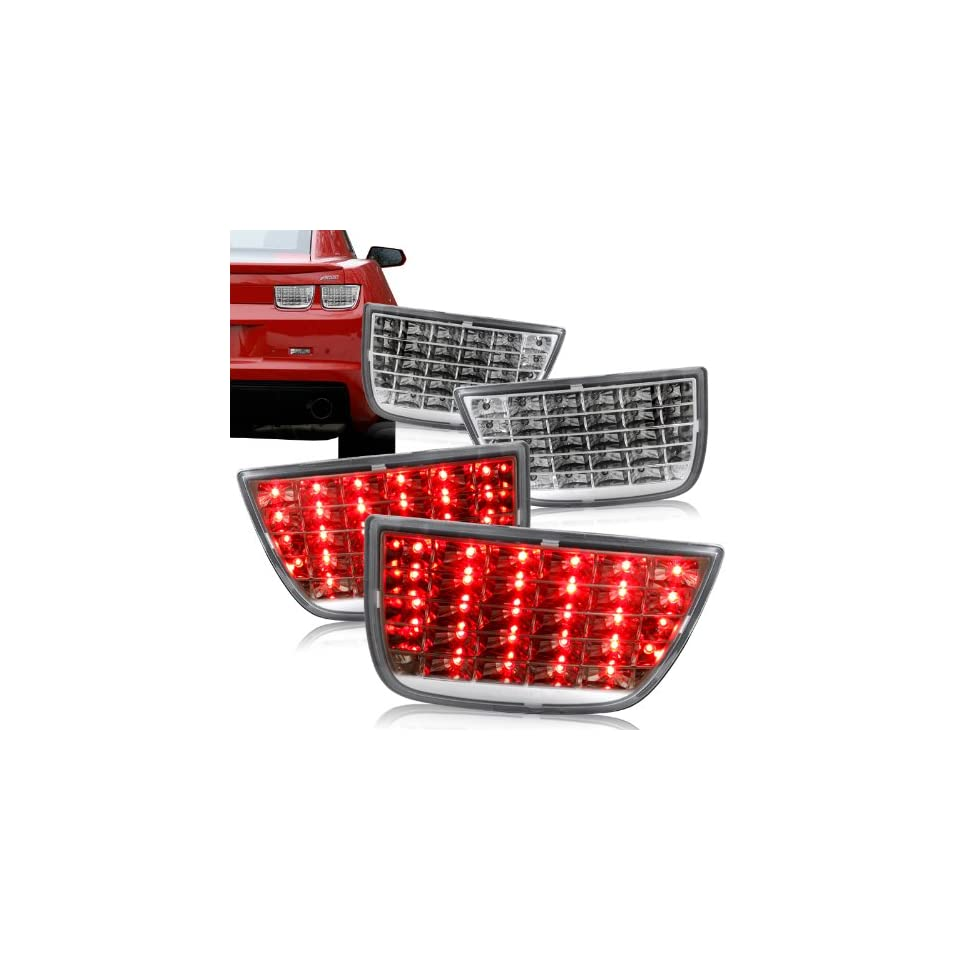 2010   2011 Chevy Camaro Chrome Housing w/ Clear Lens Sequential LED Tail Lights