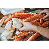 Alaskan King Crab: Colossal Red King Crab Legs (3 LBS) - Overnight Shipping Monday-Thursday