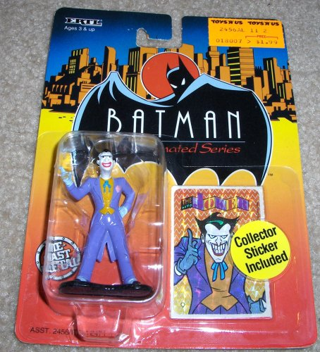 Ertl - 1993 - Batman the Animated Series - Joker Figure - Die Cast Metal - w/ Collector Sticker - Rare - Limited Edition - Mint - Colelctible - 1