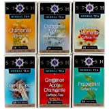 Stash Tea Soothing Herbal Tea Six Flavor Assortment, 18-20 Count Tea Bags in Foil (Pack of 6)