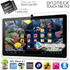 TouchTab 7 X2 Dual Core Google Android 4.1 Tablet PC, Quad Core GPU, HDMI, Bluetooth, Dual Camera, 512MB/4GB [Nov 2013] (7X2 White)