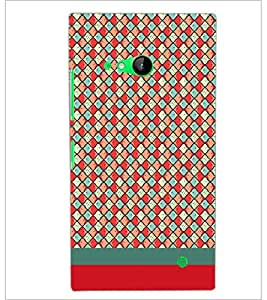 PrintDhaba Pattern D-1866 Back Case Cover for NOKIA LUMIA 730 (Multi-Coloured)