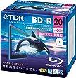 TDK �^��p�u���[���C�f�B�X�N BD-R 25GB 1-6�{�� �z���C�g���C�h�v�����^�u�� 20���p�b�N 5mm�X�����P�[�X BRV25PWC20A