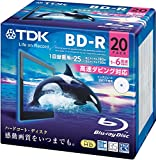 TDK 録画用ブルーレイディスク BD-R 25GB 1-6倍速 ホワイトワイドプリンタブル 20枚パック 5mmスリムケース BRV25PWC20A
