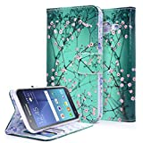 Galaxy J5 Case, NageBee - Galaxy J5 Phone Case Design Dual-Use Flip PU Leather Fold Wallet Pouch Case for Samsung Galaxy J5 (Wallet Plum Blossom)