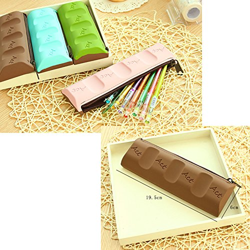 Chocolat Papeterie créative Pencil Case Fournitures Pouch Sac Pen C