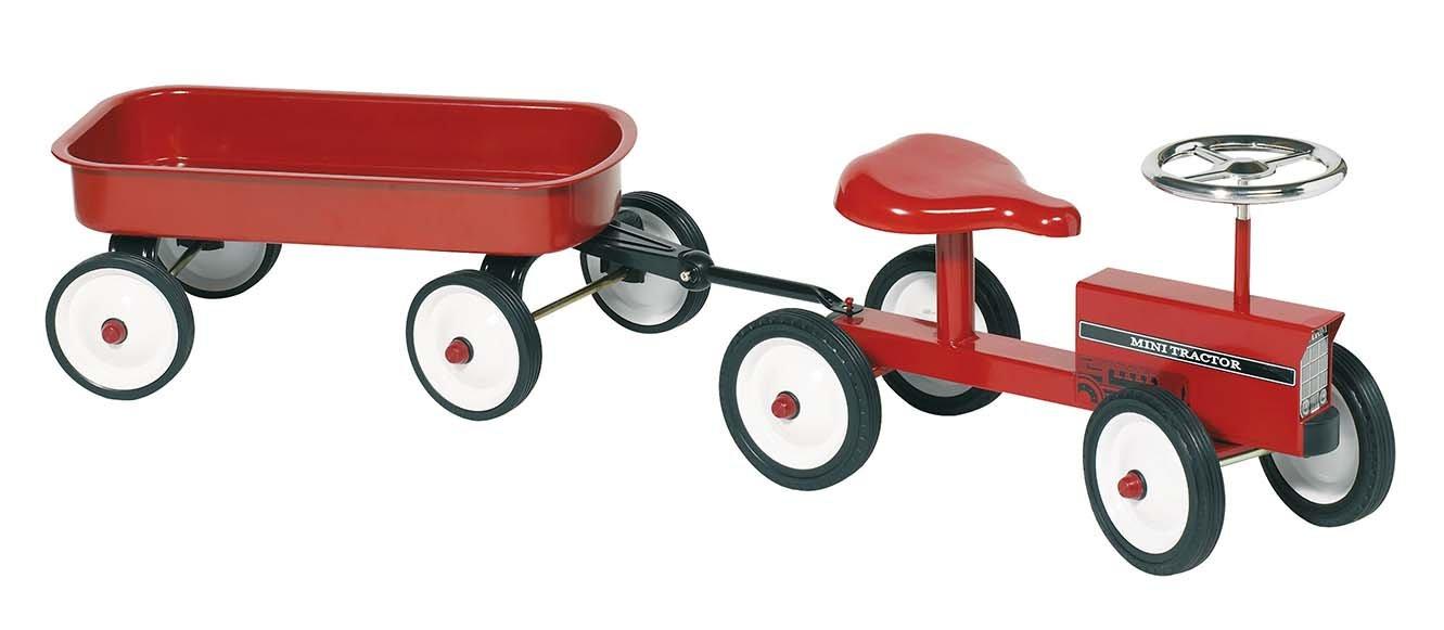 Goki Rutscher Traktor mit Anhänger - Rutschtraktor - Rutscher Traktor - Aufsitztraktor