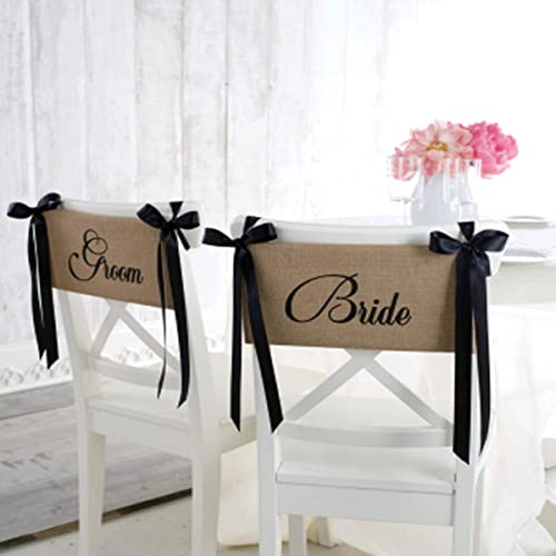 Mud Pie Bride and Groom Chair Sash Set