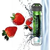 Water Bottle Infuser for Infusing Fruit, Veggies, Herbs and Tea Into Your Water to Create a Natural Flavored Beverage. Acqua Frutta Offers a 27oz Bpa Free Tritan Plastic Sports Bottle That Will Enhance Your Daily Intake of H2