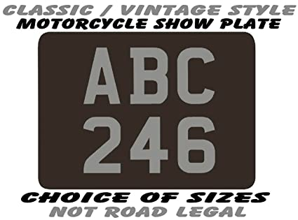 Number Plate Styles For Bikes Style Rear Number Plate