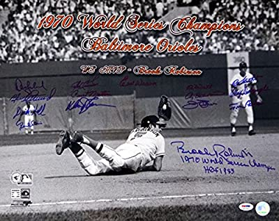 1970 World Series Champion Baltimore Orioles Autographed 16x20 Photo With 15 Signatures Including Brooks Robinson, Earl Weaver & Jim Palmer Psa/dna Stock #73270