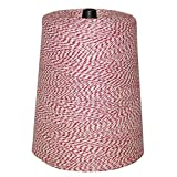 BAKERY TWINE, RED & WHITE, 2-LB. CONE (Color: 3 White Strands, 1-Red Strand, Tamaño: 2lb. Cone)