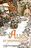 img - for Alice in Wonderland: Large Print Edition book / textbook / text book