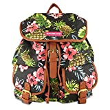 Womens Ladies Girls Pineapple Canvas Retro Novelty Backpack School College Fashion Rucksack Shoulder Bag - B94