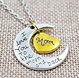 Mom-I-Love-You-To-The-Moon-and-Back-Heart-Pendant-Necklace-Two-Pendants-Fashion-Gift-Love-Necklace