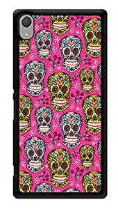 """Humor Gang Pinks Skulls Printed Designer Mobile Back Cover For """"Sony Xperia Z3 - Sony Xperia Z3 Plus"""" (3D, Glossy, Premium Quality Snap On Case)"""