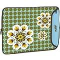 "Designer Sleeve 14"" Laptop Case Blue Flower with FREE matching Laptop Skin"