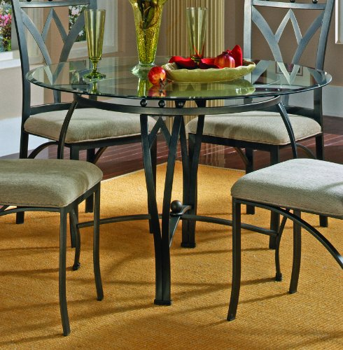 Buy Low Price XO Style 40 Round Metal Dining Table W Glass Top VF F2018