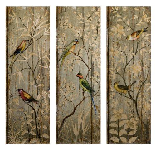 IMAX 27626-3 Calima Bird Wall Decor, Set of 3