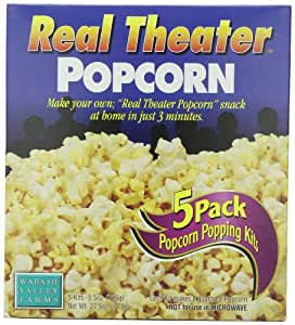Wabash Valley Farms Popcorn All-Inclusive Popping Kits - Real Theater Popcorn - 5 Pack - 27.5oz
